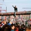 Berlin wall person